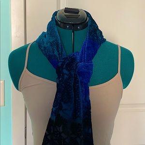Cynthia Rowley Blue Ombré Velvet Scarf